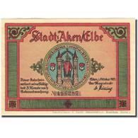Billet, Allemagne, Aken, 50 Pfennig, Forêt, 1921, SPL, Mehl:8.1 - Germany