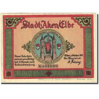 Billet, Allemagne, Aken, 50 Pfennig, Bateau, 1921, SUP, Mehl:8.1 - Germany