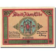 Billet, Allemagne, Aken, 50 Pfennig, Château 1, 1921, SPL, Mehl:8.1 - Germany