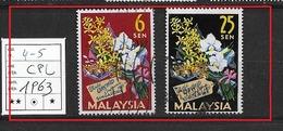 MALAYSIA  1963 The 4th World Orchid Congress, Singapore USED - Malaysia (1964-...)