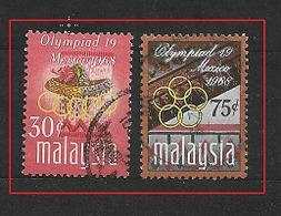 MALAYSIA  1968 Olympic Games - Mexico City, Mexico    USED - Malaysia (1964-...)