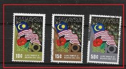 MALAYSIA  1973 The 10th Anniversary Of Malaysia  FLAG.  USED - Malaysia (1964-...)