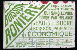 """Buvard Usagé Pour La Boisson """"Roniere"""" - Frisdrank"""