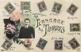 Themes Div-ref Y551- Timbres - Philatelie - Langages - Langage Du Timbre - Carte Bon Etat  - - Stamps (pictures)