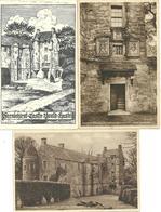 3 POSTCARDS FERNIEHIRST CASTLE YOUTH HOSTEL - JEDBURGH - ROXBURGHSHIRE - Roxburghshire