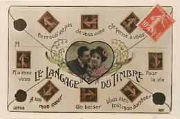 Themes Div-ref Y550- Timbres - Philatelie - Langages - Langage Du Timbre - Carte Bon Etat  - - Stamps (pictures)