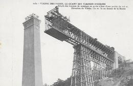 63)  SAINT GERVAIS D' AUVERGNE  - Viaduc Des  FADES  - Détails Des Travaux De Montage ...au Dessus De La Sioule - Saint Gervais D'Auvergne