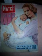 Paris Match N°468 Du 29/03/1958 Grace Naissance Albert De Monaco Sahara - General Issues