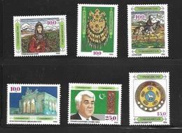 TURKMENISTAN 1992 CULTURE TURKMENE  YVERT N°1/6  NEUF MNH** - Turkménistan