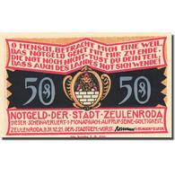 Billet, Allemagne, Zeulenroda, 50 Pfennig, Ferme, 1921-12-31, SPL Mehl 1470.2 - Germany
