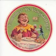 Etiquette De Fromage Camembert - Le Gargantua - Champigny Sur Veude - Indre Et Loire. - Quesos