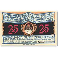 Billet, Allemagne, Zeulenroda, 25 Pfennig, Eglise, 1921-11-01, SPL Mehl 1470.1 - Germany