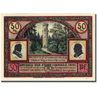 Billet, Allemagne, Ilmenau, 50 Pfennig, Montagne 1, 1921, SPL, Mehl:643.4 - Germany