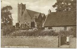 REAL PHOTOGRAPHIC POSTCARD ESTABLISHED CHURCH - EARLSTON - BERWICKSHIRE - Berwickshire