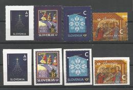 SI 2018-22 Christmas New Year, SLOVENIA, 1 X 8v, MNH - Weihnachten