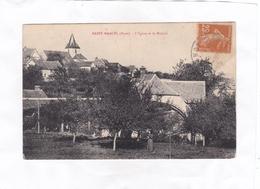 CPA : 14 X 9   -   SAINT-MARCEL  (Eure)  -  L'Eglise Et Le Moulin - Francia
