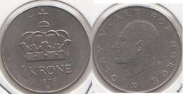 Norvegia 1 Krone 1976 KM#419 - Used - Norvège