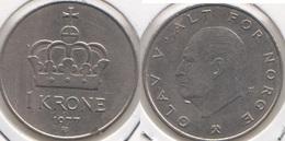 Norvegia 1 Krone 1977 KM#419 - Used - Norvège
