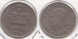 Norvegia 1 Krone 1979 KM#419 - Used - Norvegia
