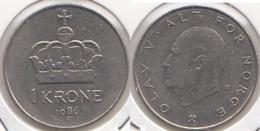 Norvegia 1 Krone 1986 KM#419 - Used - Norvège