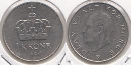 Norvegia 1 Krone 1991 KM#419 - Used - Norvegia