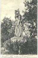 WALLACE STATUE - DRYBURGH - WITH BOSWELLS POSTMARK 1907 - Berwickshire