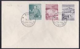 Triest B, 1953, Avnoj, FDC - Poststempel