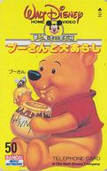 Télécarte NEUVE Japon / 110-011 - DISNEY - Série HOME VIDEO Ours WINNIE POOH Abeille Miel Bee Honey Japan MINT Phonecard - Disney