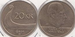 Norvegia 20 Kroner 1994 Km#453 - Used - Norvegia