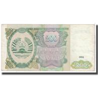 Billet, Tajikistan, 200 Rubles, 1994, KM:7a, TTB - Tadjikistan