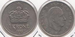 Norvegia 1 Krone 1993 Km#436 - Used - Norvège