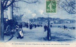 CONCARNEAU - Le Quai D'Aiguillon Et Le Quai Carnot, Vue Prise De La Place D'Armes - Concarneau
