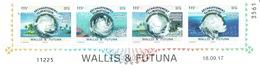 Wallis And Futuna, Global Warming, Cyclones, 2017, MNH VF, Dated Strip Of 4 - Wallis And Futuna