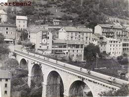 TOUR DE FRANCE 1950 GRANDE PHOTOGRAPHIE ORIGINALE SAINT-CLAUDE JURA CYCLISME VELO SPORT - Cyclisme