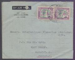 CEYLON Postal History Aerogramme Cover, Used 1963 - Sri Lanka (Ceylon) (1948-...)