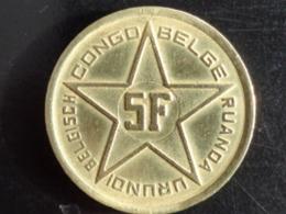 CONGO BELGE : TRES BELLE 5 FRANCS PALMIER 1952 - 1951-1993: Baudouin I