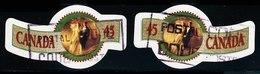 Canada (Scott No.1568-69 - Souhaits / Provinces / Greetings) (o) NOTE - 1952-.... Règne D'Elizabeth II