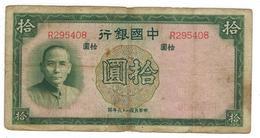 China 10 Yuan 1937,  VG. - China