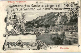 Ennenda - Glarnerisches Kantonalsängerfest 1906 - Feuerwehr - GL Glaris