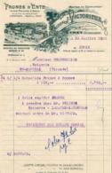 PRUNES D'ENTE MAISON VICTORIEUX à EYMET      ........  FACTURE DE 1955 - Alimentaire