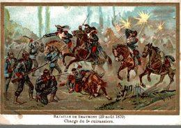 CHROMO CHICOREE EXTRA A LA BELLE JARDINIERE C. BERIOT LILLE BATAILLE DE BEAUMONT 29 AOUT 1870 - Otros