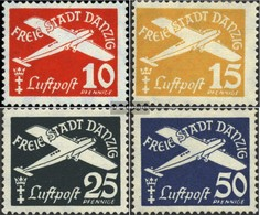 Danzig 298-301 (completa Edizione) Con Fold 1938 Airmail - Danzig
