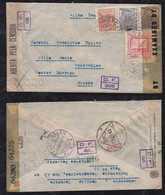 Brazil Brasil 1944 Double Censor Airmail Cover BAHIA To FEUERTHALEN Switzerland - Brasilien