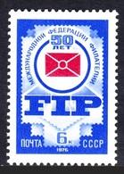 RUSIA 1976 - CINQUENTENARIO DE LA FEDERACION INTERNACIONAL DE FILATELIA (FIP) - YVERT Nº 4247** - 1923-1991 USSR