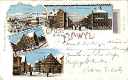 Gruss Aus Flawil - Litho Winter - SG St. Gall