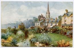 ARTIST : WIMBUSH - BOURNEMOUTH, ST ANDREW'S CHURCH / ADDRESS - LONGCROSS FARM, HEADLEY COMMON, NEWBURY (TUCK'S OILETTE) - Wimbush