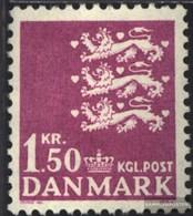 Denmark 402y Floureszierendes Paper Unmounted Mint / Never Hinged 1970 Imperial Crest - Denmark