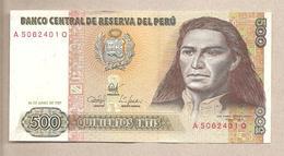 Peru - Banconota Circolata Da 500 Intis P-134b - 1987 - Perù