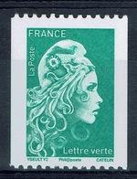 "France, Marianne, ""l'engagée"", Green Letter, Coil Stamp, Black Number On The Reverse, 2018, MNH VF - Unused Stamps"