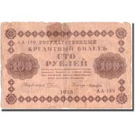 Billet, Russie, 100 Rubles, 1918, 1918, KM:92, B+ - Rusia